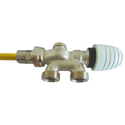 VTA-40-Uronski ventil za radijatore sa dizajniranom ručnom kapom sa četiri priključka za jednocevni sistem grejanja- PROJECT serija