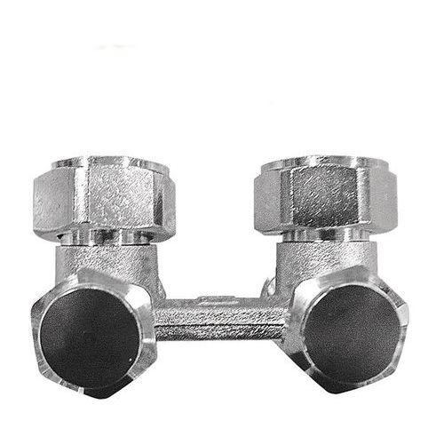 H-ventil TS-3000 za dvocevni sistem grejanja, sa obostranim pražnjenjem, odzračivanjem i zatvaranjem, priključak grejnog tela G 3/4 - ugaoni model