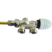 VTA-40-Uronski ventil za radijatore sa dizajniranom ručnom kapom sa četiri priključka za dvocevni sistem grejanja- PROJECT serija