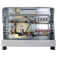 Kompletna stanica za regulisanje podnog grejanja 230 V, 50 Hz, priključak levo
