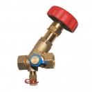STRÖMAX-M, Ventil za regulisanje usponskih vodova i merenje diferencijalnog pritiska, kosi model sa mernim ventilima