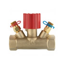 Ventil sa ručnom regulacijom STRÖMAX-MS, mesingani ventil sa ravnim sedištem, unutrašnji navoj