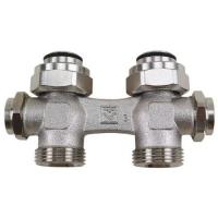 H-ventil TS-3000 za dvocevni sistem grejanja, sa obostranim pražnjenjem, odzračivanjem i zatvaranjem, priključak grejnog tela G 3/4 - pravi model